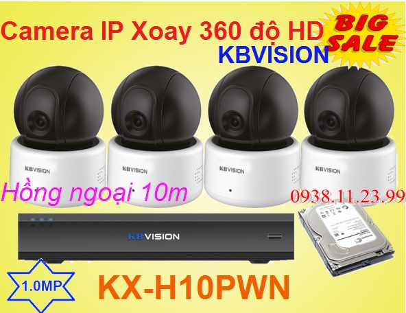 Lắp đặt camera wifi kbvision xoay 360